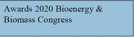 Awards 2020 Bioenergy & Biomass Congress