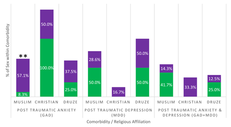 Ethnic and Sex Comparison of PTSD Comorbidities in Israel: Anxiety and Depression Rates among Muslims, Druze, and Christians